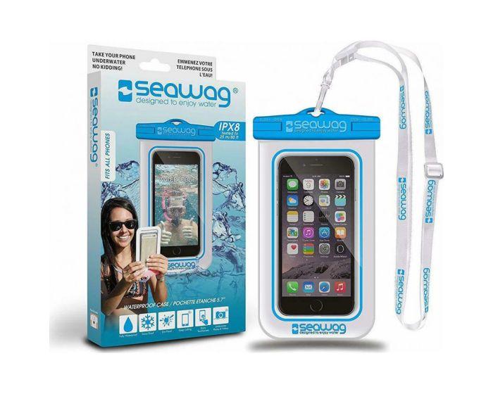 Seawag IPX8 Universal Αδιάβροχη Θήκη για Smartphones έως 5.7'' - White / Blue