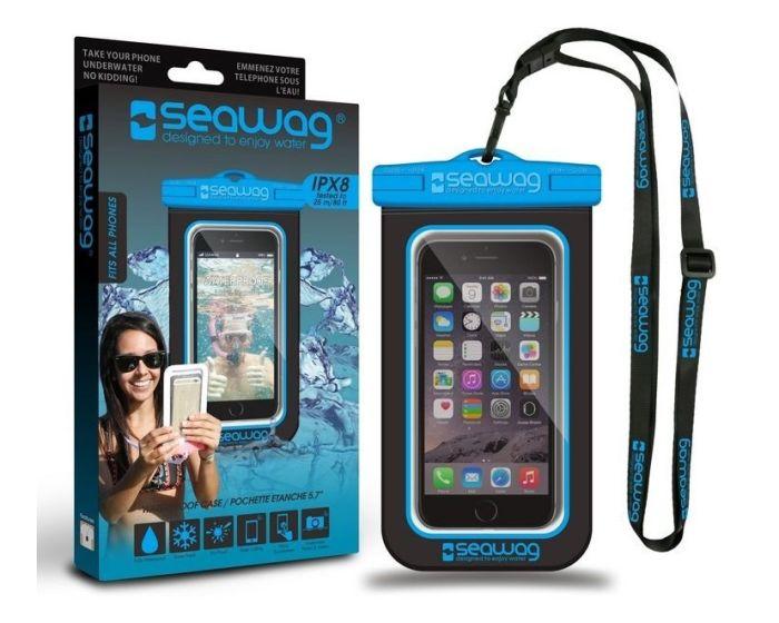 Seawag Universal Αδιάβροχη Θήκη Πουγκί για Smartphones έως 5.7'' (SEAWAG_B2X) Black / Blue