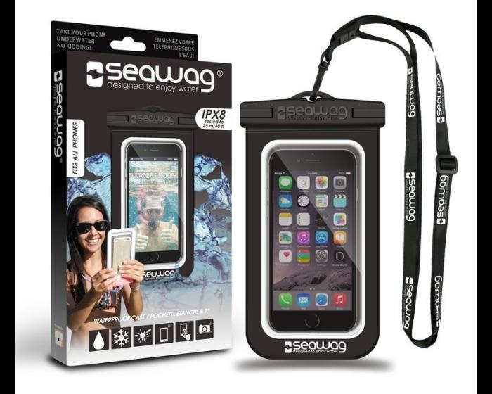 Seawag Universal Αδιάβροχη Θήκη Πουγκί για Smartphones έως 5.7'' (SEAWAG_B1X) Black / White