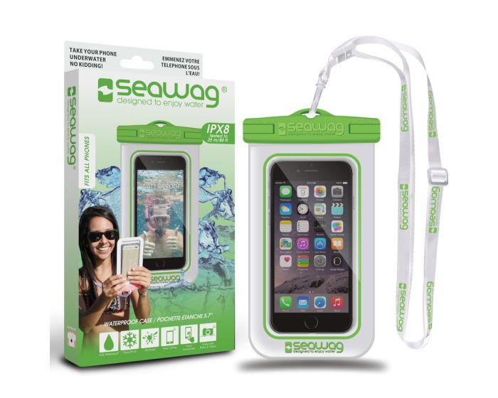 Seawag IPX8 Universal Αδιάβροχη Θήκη για Smartphones έως 5.7'' - White / Green