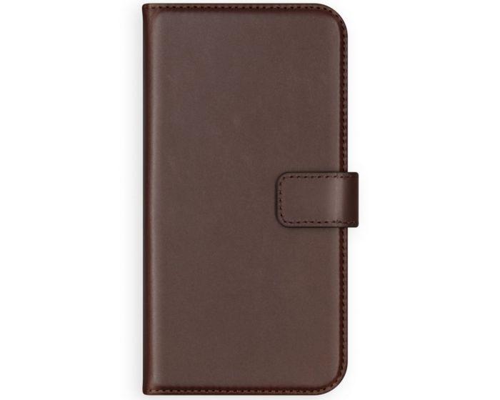 Selencia Era Genuine Leather Wallet Case Δερμάτινη Θήκη Πορτοφόλι - Brown (Samsung Galaxy A12)