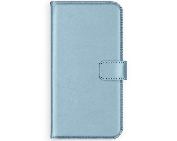 Selencia Era Genuine Leather Wallet Case Δερμάτινη Θήκη Πορτοφόλι - Light Blue (Samsung Galaxy A32 5G)