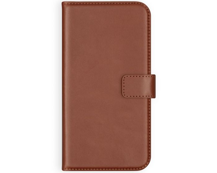 Selencia Era Genuine Leather Wallet Case Δερμάτινη Θήκη Πορτοφόλι - Light Brown (Samsung Galaxy A42 5G)