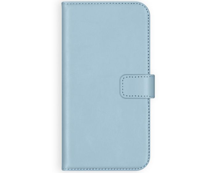 Selencia Era Genuine Leather Wallet Case Δερμάτινη Θήκη Πορτοφόλι - Light Blue (Samsung Galaxy A51)