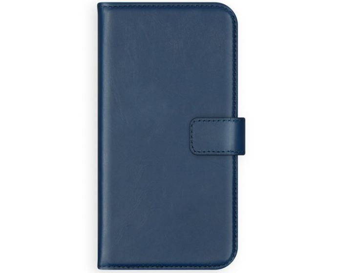 Selencia Era Genuine Leather Wallet Case Δερμάτινη Θήκη Πορτοφόλι - Blue (iPhone 12 Pro Max)