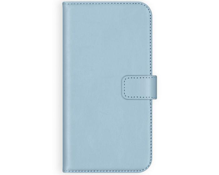 Selencia Era Genuine Leather Wallet Case Δερμάτινη Θήκη Πορτοφόλι - Light Blue (iPhone 12 Pro Max)