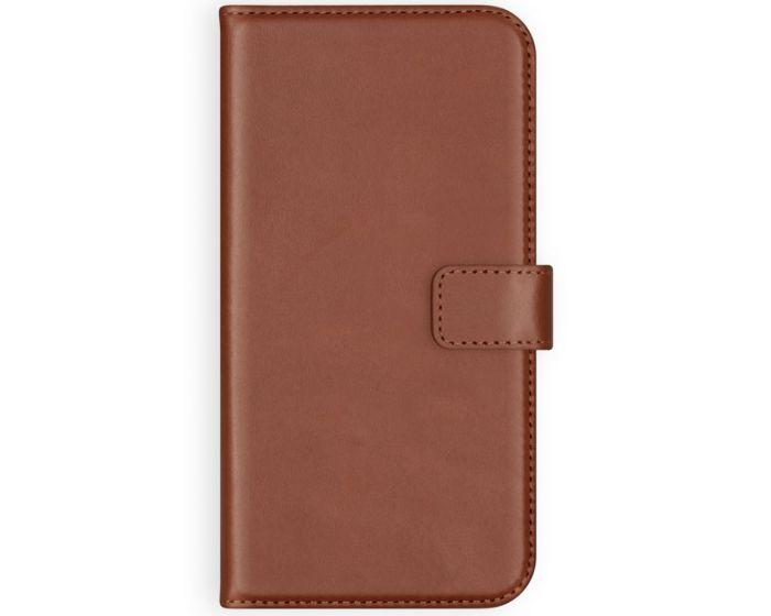 Selencia Era Genuine Leather Wallet Case Δερμάτινη Θήκη Πορτοφόλι - Light Brown (iPhone 12 Pro Max)