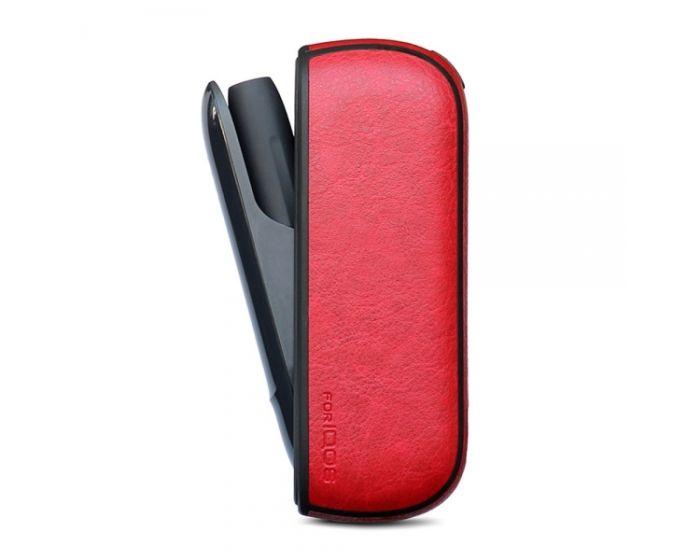 Senso PU Leather Case Θήκη για Αποθήκευση και Μεταφορά του IQOS 3.0 - Red