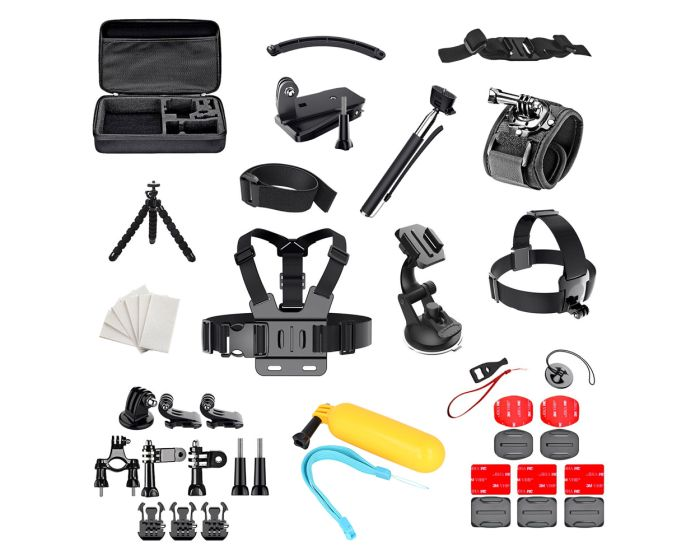 Set of 50 in 1 Accessories for GoPro / SJCAM (PKT09) Σετ Αξεσουάρ για Sports Cameras
