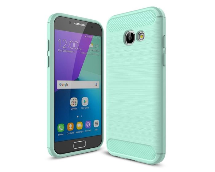 TPU Carbon Rugged Armor Case (141630) Mint (Samsung Galaxy A3 2017)