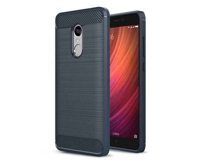 TPU Carbon Rugged Armor Case Dark Blue (Xiaomi Redmi Note 4 / 4X)