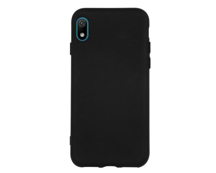 Θήκη Σιλικόνης Slim Fit Liquid Silicone Case Black (Huawei Y5 2019)