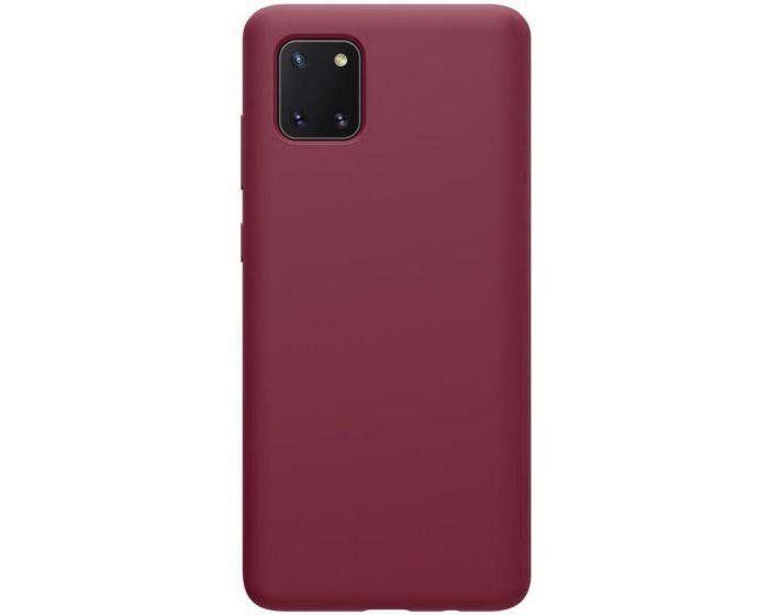 Θήκη Σιλικόνης Slim Fit Liquid Silicone Case Burgundy (Samsung Galaxy Note 10 Lite)
