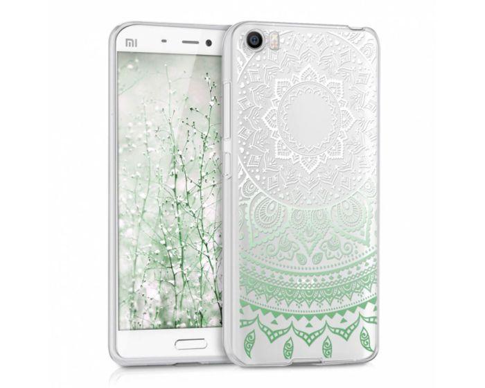 KWmobile Silicone Case Indian Sun Design (38214.01) Θήκη Σιλικόνης Διάφανη Πράσινη / Λευκή (Xiaomi Mi5)