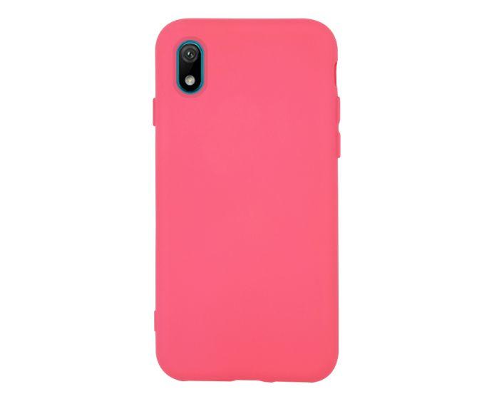 Θήκη Σιλικόνης Slim Fit Liquid Silicone Case Pink (Huawei Y5 2019)