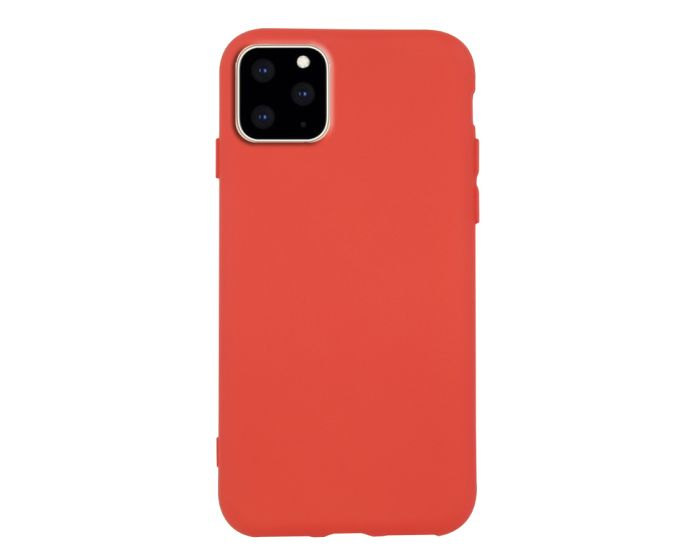 Θήκη Σιλικόνης Slim Fit Liquid Silicone Case Red (iPhone 11 Pro Max)