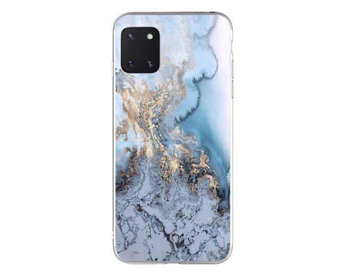 Silicone Marble Case No1 Θήκη Σιλικόνης Blue (Samsung Galaxy Note 10 Lite)
