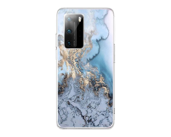 Silicone Marble Case No1 Θήκη Σιλικόνης Blue (Huawei P40)