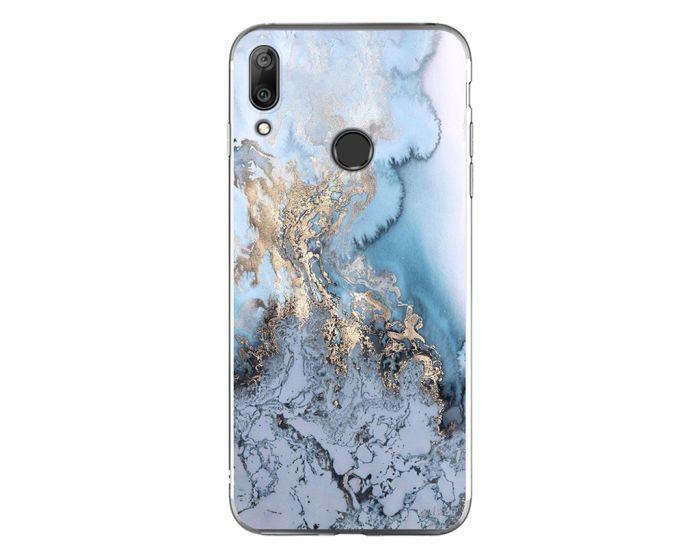 Silicone Marble Case No1 Θήκη Σιλικόνης Blue (Huawei Y7 2019 / Y7 Prime 2019)