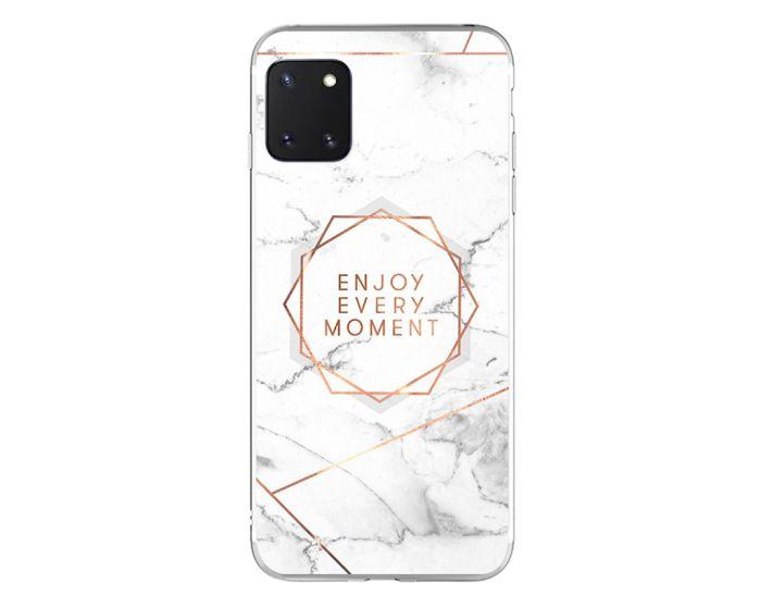 Silicone Marble Case No16 Θήκη Σιλικόνης White / Gold (Samsung Galaxy Note 10 Lite)