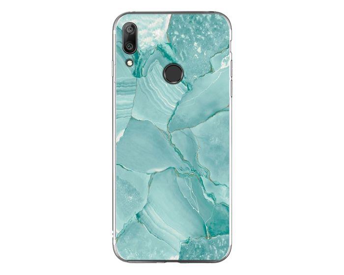 Silicone Marble Case No3 Θήκη Σιλικόνης Green (Huawei Y7 2019 / Y7 Prime 2019)