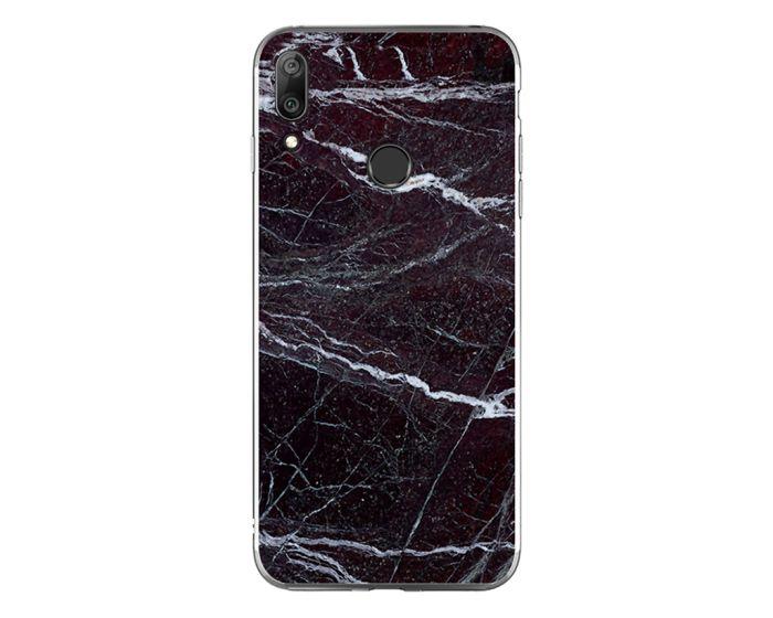 Silicone Marble Case No14 Θήκη Σιλικόνης Black / White (Huawei Y7 2019 / Y7 Prime 2019)