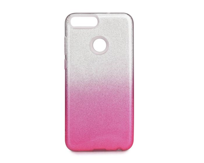 Forcell Glitter Shine Cover Hard Case Clear / Pink (Huawei P Smart)