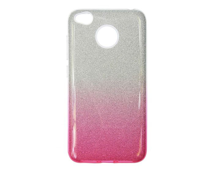 Forcell Glitter Shine Cover Hard Case Silver / Rose (Huawei P9 Lite Mini)