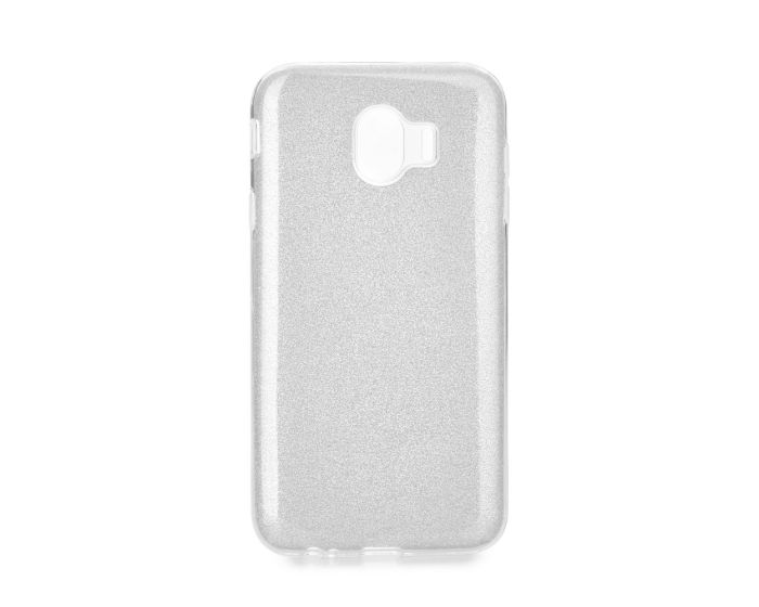 Forcell Glitter Shine Cover Hard Case Silver (Samsung Galaxy J4 2018)