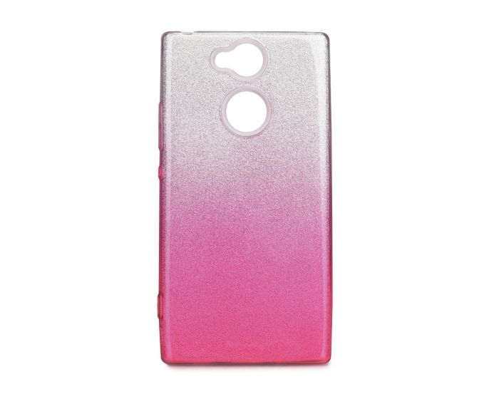 Forcell Glitter Shine Cover Hard Case Clear / Pink (Sony Xperia XA2)