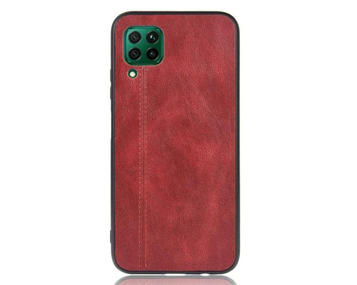 Slim Art PU Leather & TPU Back Case Red (Huawei P40 Lite)