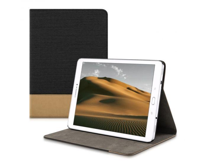 KWmobile Canvas Slim Case Stand (34842.01) Black Brown (Samsung Galaxy Tab S2 9.7 - T810 / T815)