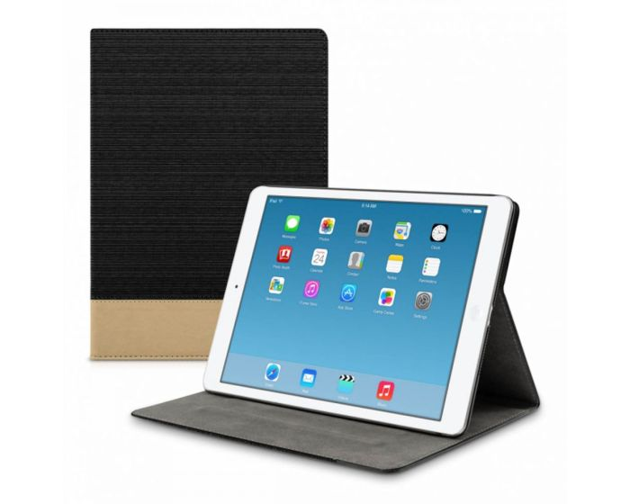 KWmobile Canvas Slim Case Stand (31474.01) Black Brown (iPad Air 2)