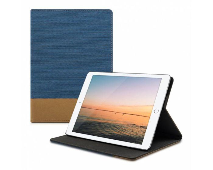 KWmobile Canvas Slim Case Stand (31474.04) Blue Brown (iPad Air 2)