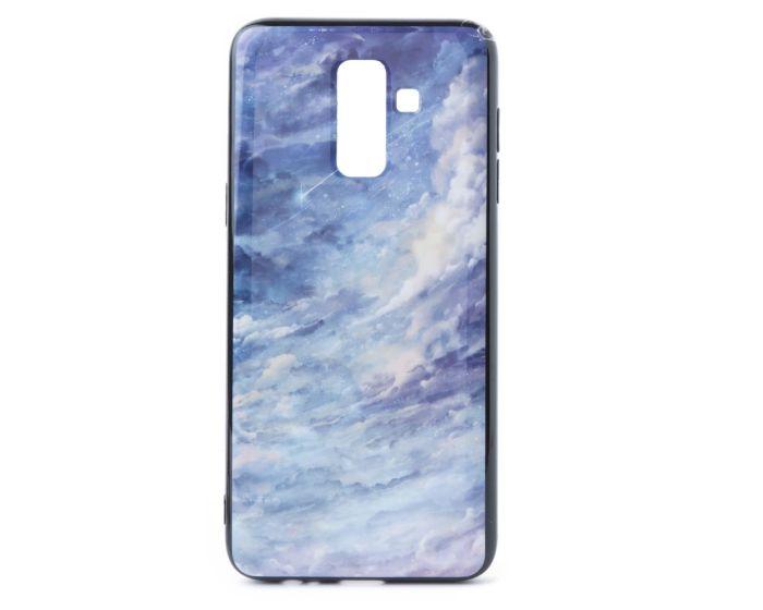 Hard Back Case with TPU Bumper Clouds Purple (Samsung Galaxy J8 2018)