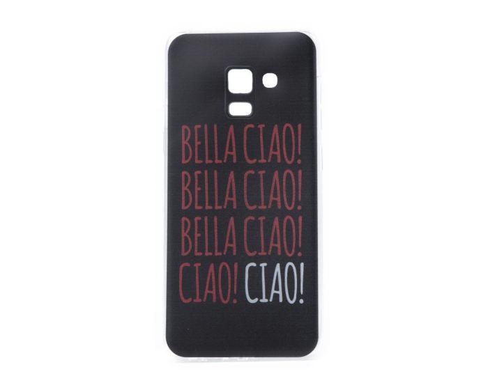 Slim Fit Gel Case La Casa De Papel Θήκη Σιλικόνης Bella Ciao Black (Samsung Galaxy A8 2018)