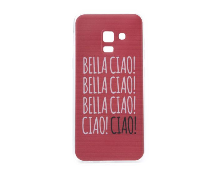 Slim Fit Gel Case La Casa De Papel Θήκη Σιλικόνης Bella Ciao Red (Samsung Galaxy A8 2018)