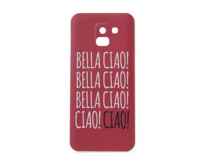 Slim Fit Gel Case La Casa De Papel Θήκη Σιλικόνης Bella Ciao Red (Samsung Galaxy J6 2018)