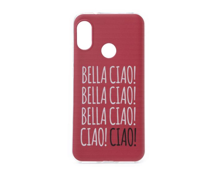Slim Fit Gel Case La Casa De Papel Θήκη Σιλικόνης Bella Ciao Red (Xiaomi Mi A2 Lite / Redmi 6 Pro)