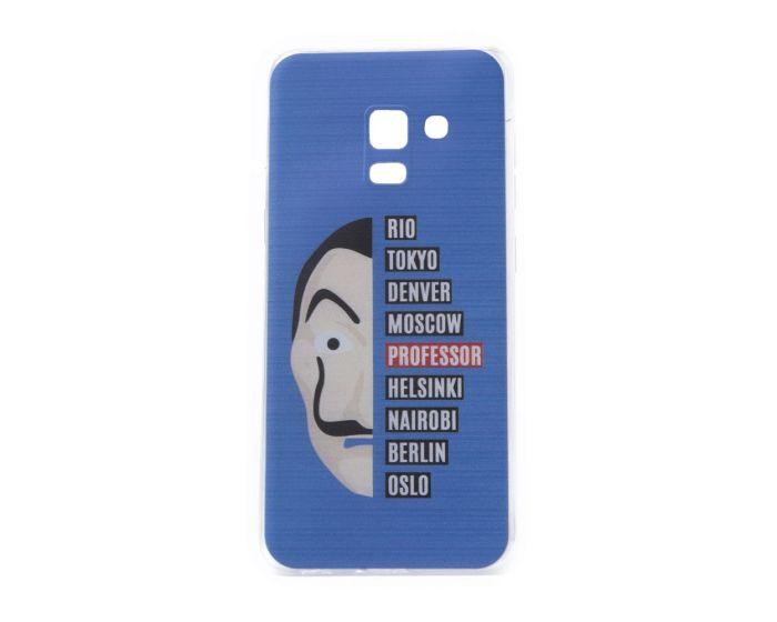 Slim Fit Gel Case La Casa De Papel Θήκη Σιλικόνης Dali Blue (Samsung Galaxy A8 2018)