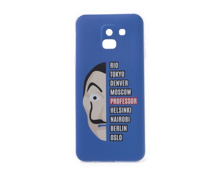 Slim Fit Gel Case La Casa De Papel Θήκη Σιλικόνης Dali Blue (Samsung Galaxy J6 2018)