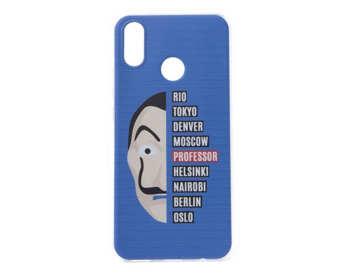 Slim Fit Gel Case La Casa De Papel Θήκη Σιλικόνης Dali Blue (Huawei Honor 8X)