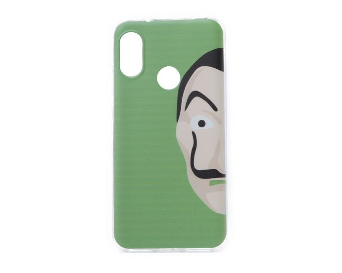 Slim Fit Gel Case La Casa De Papel Θήκη Σιλικόνης Dali Green (Xiaomi Mi A2 Lite / Redmi 6 Pro)