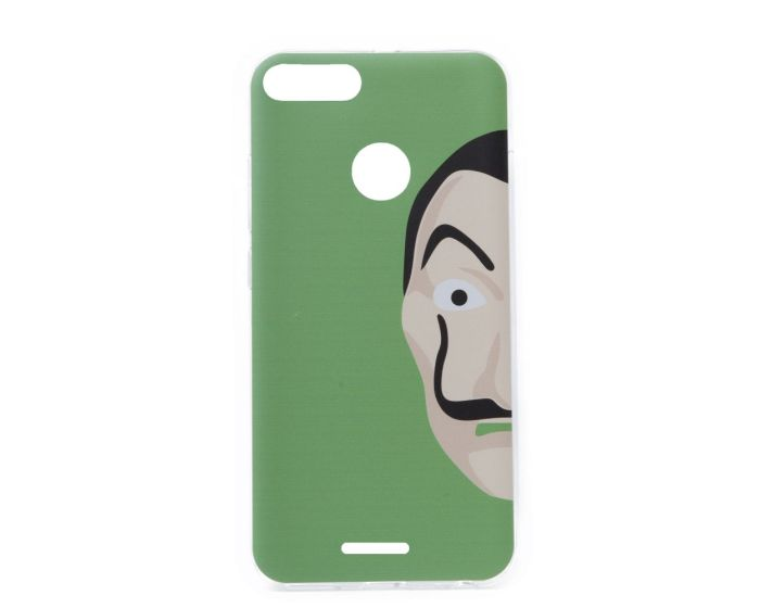 Slim Fit Gel Case La Casa De Papel Θήκη Σιλικόνης Dali Green (Xiaomi Redmi 6)
