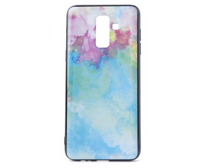 Hard Back Case with TPU Bumper Paint Cyan Pink (Samsung Galaxy J8 2018)