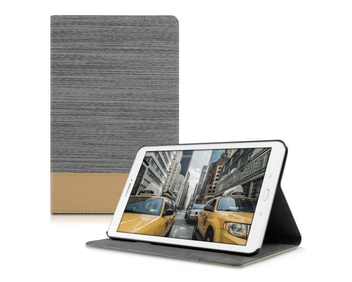 KWmobile Canvas Slim Case Stand (37684.25) Grey Brown (Samsung Galaxy Tab E 9.6'' - T560 / T561)