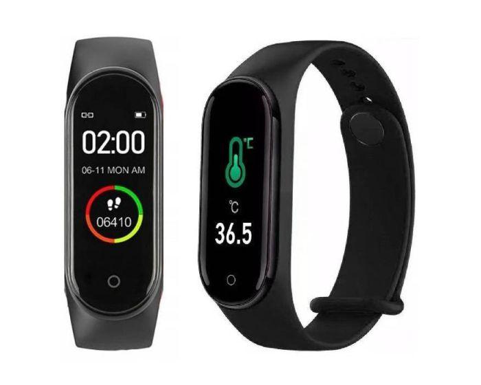 Smart Band M4 Pro Sports Fitness Tracker - Black
