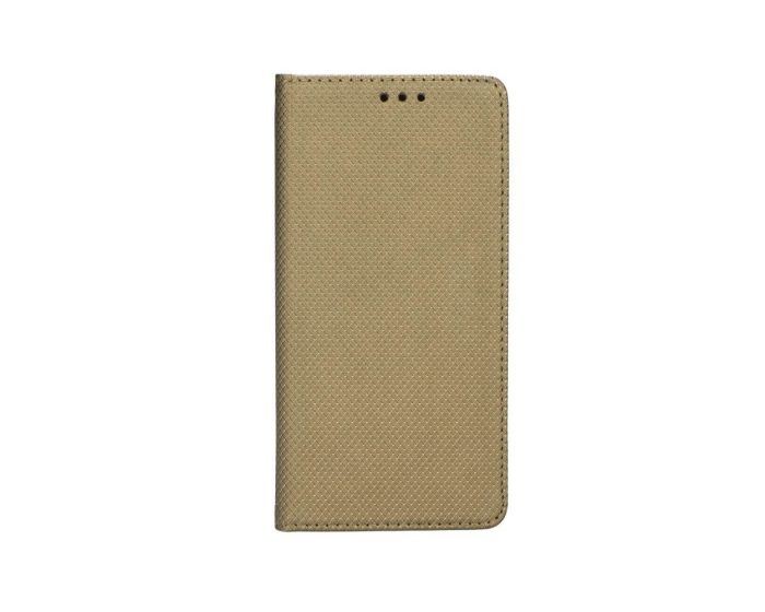Forcell Smart Book Case με Δυνατότητα Stand Θήκη Πορτοφόλι Χρυσή (Samsung Galaxy S5 / S5 Neo)
