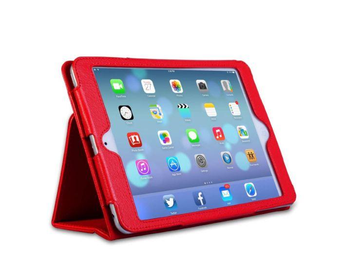 Δερμάτινη Θήκη Smart Case Folio Stand (OEM BULK) - Κόκκινη (iPad Air 2)