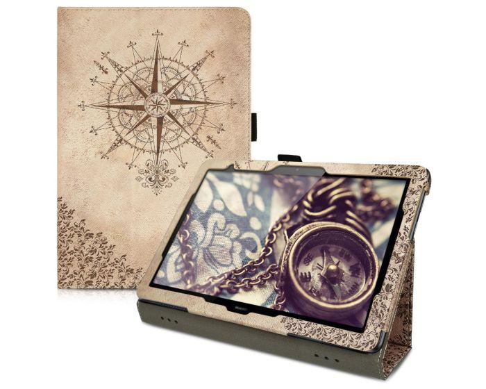 KWmobile Θήκη Smart Folio Stand Case (46111.01) Baroque Compass (Huawei MediaPad T5 10.0'')